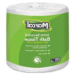 Marcal 6079 Bath Tissue, 2-Ply, 336 Shts/Roll, 48 Rolls/CT,
