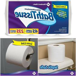 Bath Tissue Toilet Paper 2-Ply Large Roll Soft Strong Septic