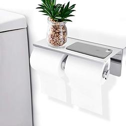 GEMITTO Toilet Paper Holder, SUS304 Stainless Steel Double B