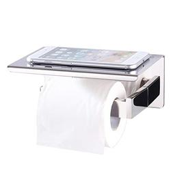 Toilet Paper Holder with Shelf, Angle Simple SUS304 Stainles