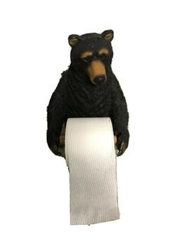 Bear Toilet Paper Holder Lodge Cabin Country Bathroom Decor