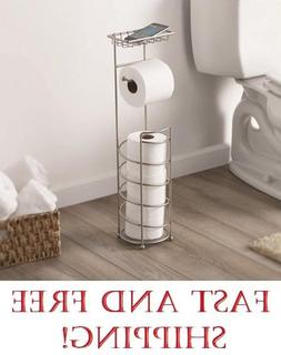 Better Home & Garden Cell Phone Toilet Paper Stand, Satin Ni