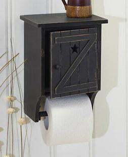 BLACK Rustic Country Primitive Outhouse Toilet Paper Holder