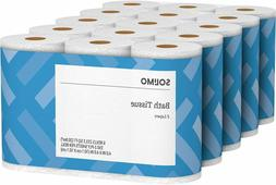 Brand - Solimo 2-Ply Toilet Paper, 350 Sheets Per Roll, 30 C