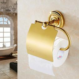 Brass Bathroom Toilet Roll Paper Holder Rack Hanger Wall Mou