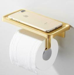 Brushed Gold Space Aluminium Toilet Paper Roll Holder Wall C