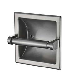 Brushed Nickel Recessed Toilet Paper Holder with Stainless S