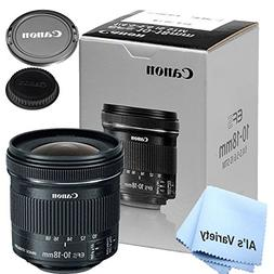Canon 10-18mm f/4.5-5.6 IS STM Lens  - W/ Free Microfiber Cl