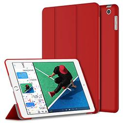 JETech Case for iPad , Smart Cover Auto Wake/Sleep, Red