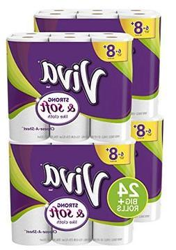 Viva STRONG and SOFT towels, 24 Big Plus Rolls, Choose-A-She