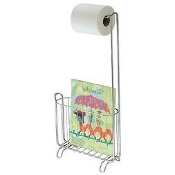 InterDesign Classico Free Standing Metal Toilet Paper Holder