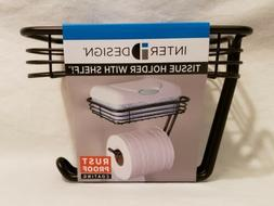 InterDesign Classico Toilet Paper Holder with Shelf - Wall M