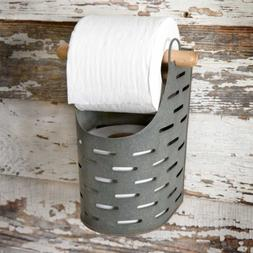 Colonial Tin Works Metal Toilet Paper Holder,grey