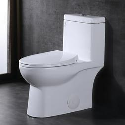 DeerValley Comfort Height Dual-Flush Elongated One-Piece Toi