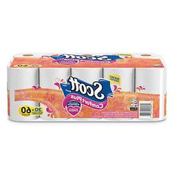 Scott ComfortPlus Toilet Paper, Double Roll, Bath Tissue, 1-