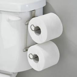 mDesign Metal Compact Hanging Over The Tank Toilet Tissue Pa