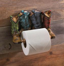 COWBOY BOOT TOILET PAPER HOLDER Western Bathroom Decor New