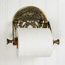 Crown Toilet Fixture Solid Brass Toilet Paper Holder Antique