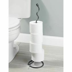 mDesign Decorative Metal Free Standing Toilet Paper Holder S