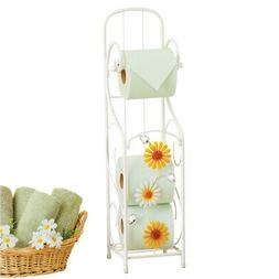 Delightful Daisies & Sparkling Acrylic Gems Toilet Paper Hol
