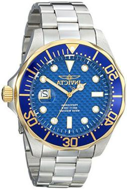 Invicta Men's Pro Diver Gold and Blue Quartz 3 Hand Blue Dia