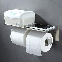 Double Roll Toilet Paper Holder, Angle Simple SUS 304 Stainl