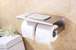 XVL Dual Toilet paper holder with mobile phone storage shelf