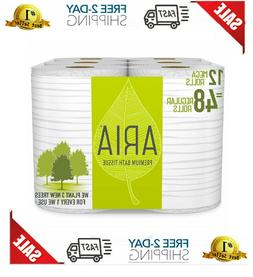 Premium Earth-Friendly Toilet Paper Pack of 12 Mega Rolls Ba