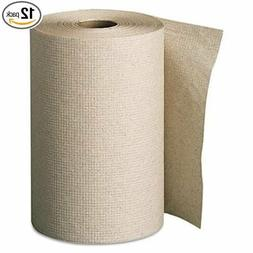 Envision 350' Nonperforated Brown Paper Roll Towels, 12 Roll