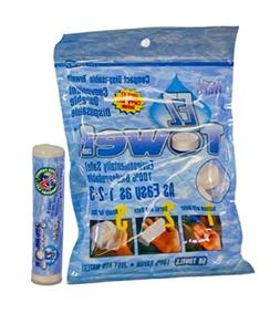 EZ-Towel with New Durable Tube and Packaging, 50 Pieces