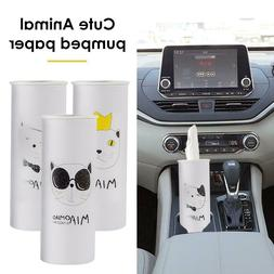 Home Car Cup Holder Cylinder Tissue Box Case Tube Cleaning S