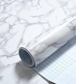 Faux Grey Marble Contact Paper Self adhesive Film Peel and S