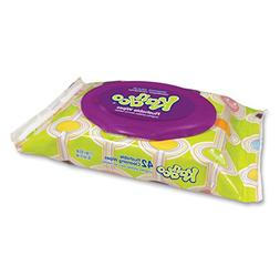 Flushable Wet Wipes for Kids by Kandoo, Resealable for Trave
