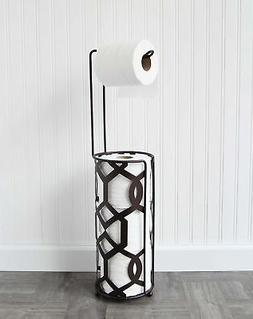 Vanderbilt Home Freestanding Toilet Paper Holder in Oil Rubb