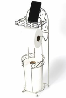 McLee Creations FSTP-SN Free Standing Toilet Paper Holder wi