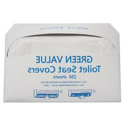 Half-Fold Toilet Seat Covers, White, 14 3/4 X 16 1/2, 5000/c