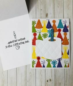 Handcrafted Birthday TOILET PAPER with CANDLE card FUNNY for