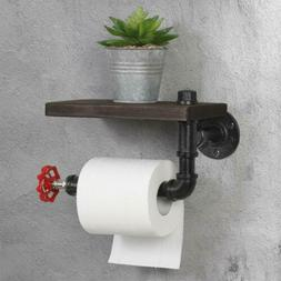 Industrial Toilet Paper Tissue Roll Rack/Holder Rustic Woode