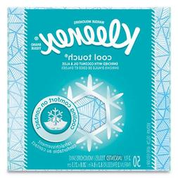 Kleenex Cool Touch Facial Tissue One Box of 50 Tissues