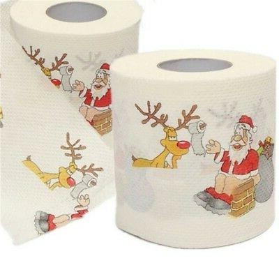 1 Roll Christmas Toilet Paper Claus Printed