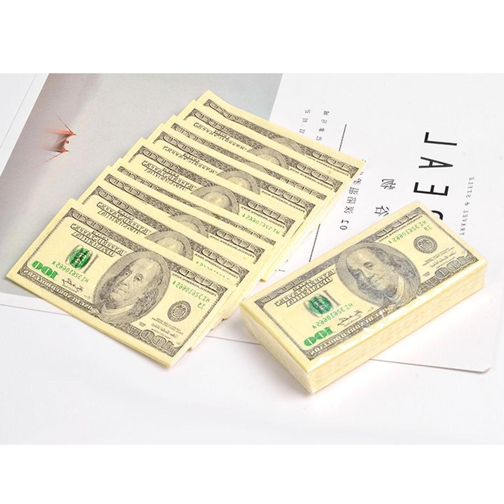 10 Creative 100 Dollars Thick Pocket <font><b>Paper</b></font> Party Supplies