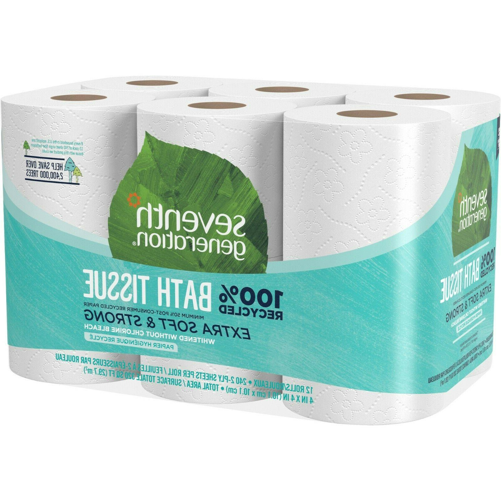 100% Recycled Bathroom Tissue Septic Safe 2-Ply White 240 Sh