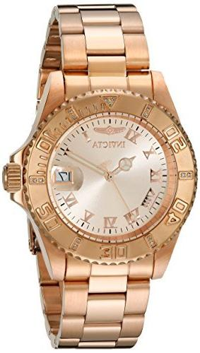 Invicta Men's 12821 Pro Diver Rose Dial Diamond Accented Wat
