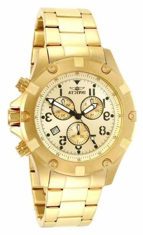 Invicta 13619 Men's Specialty Chronograph 45mm Gold Dial Wat