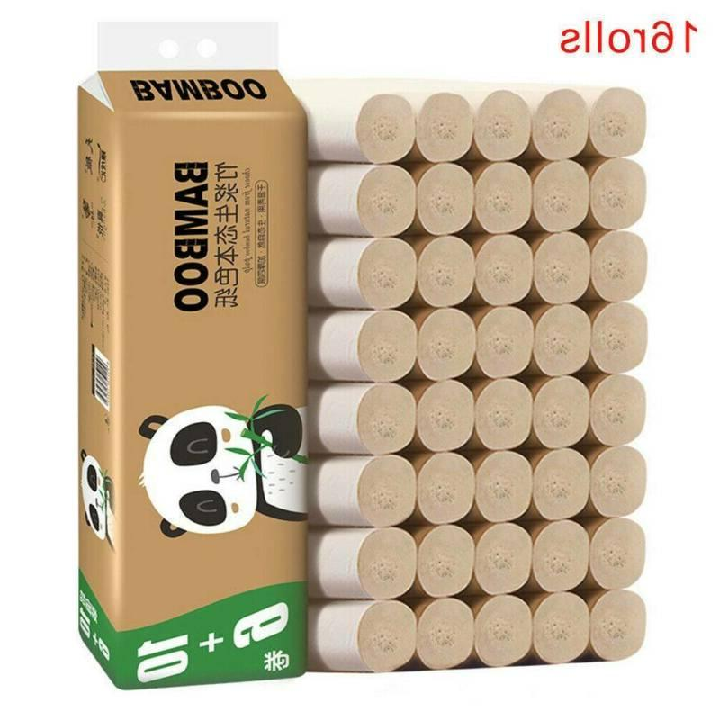 16 Rolls 4-Ply Bamboo Toilet Paper Tissue Kitchen LOT