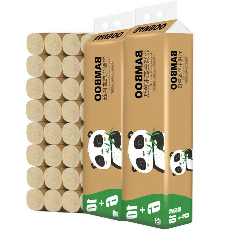 16 rolls 4 ply bamboo toilet paper