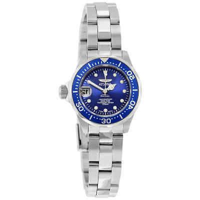 Invicta Women's Watch Pro Diver Blue Dial Dive Stainless Ste