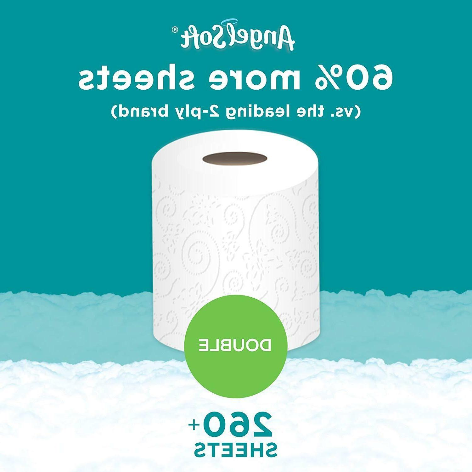 Angel Soft Toilet Paper Pack 36, 48, 60 Double Rolls