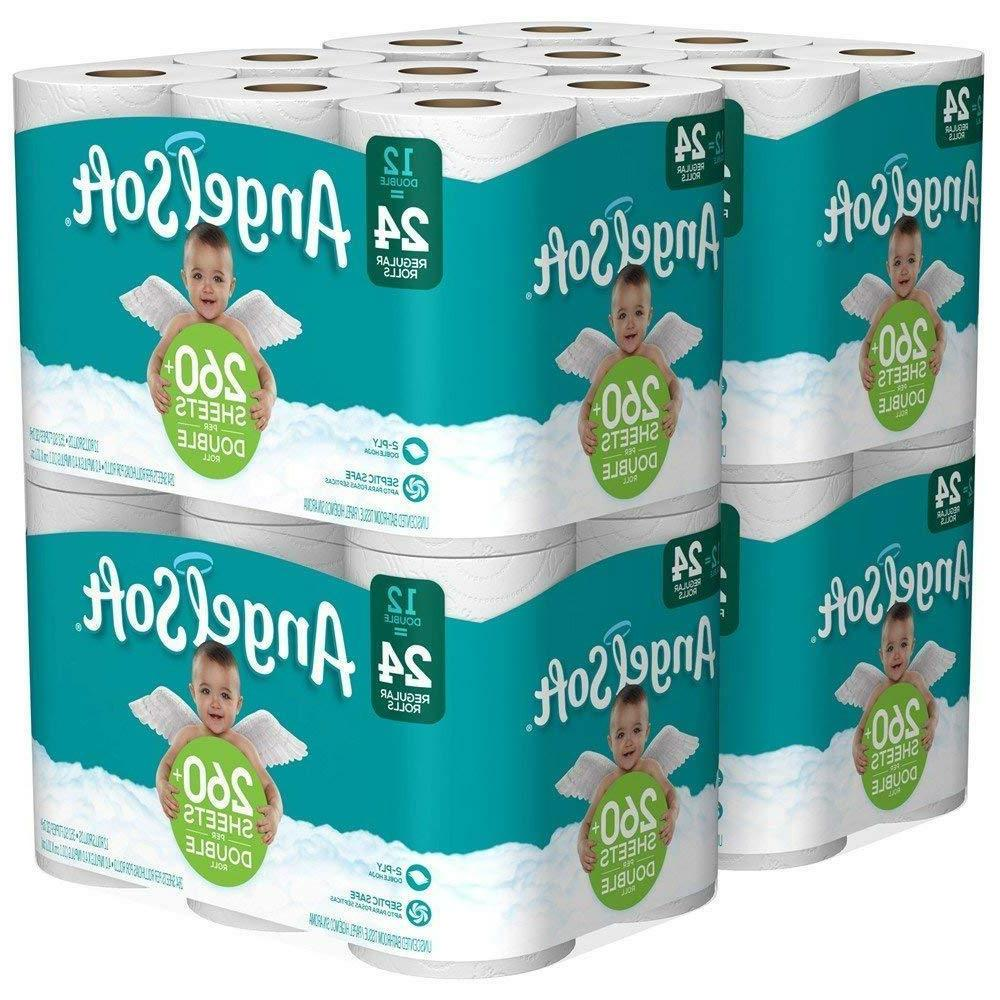 Angel 2 Toilet Paper Pack 24, 36, 60 Double