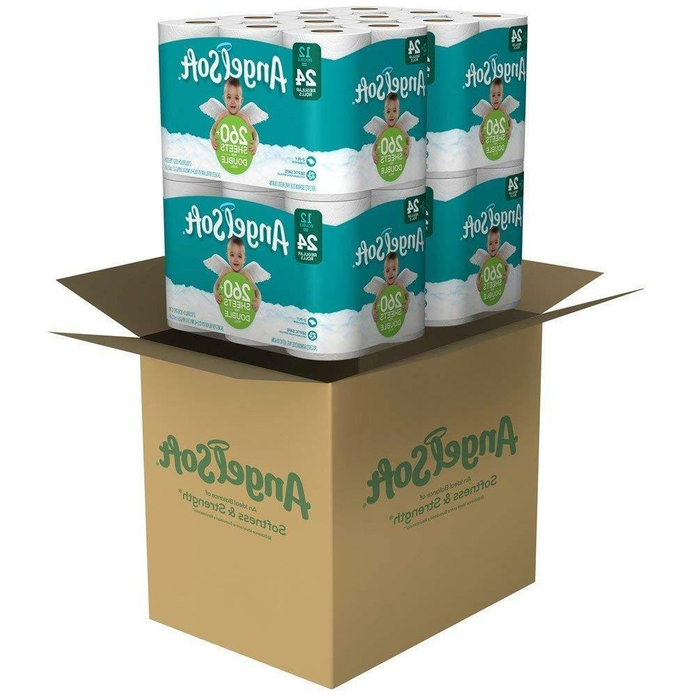 Angel Toilet Paper Pack 36, 48, Double Rolls Tissue